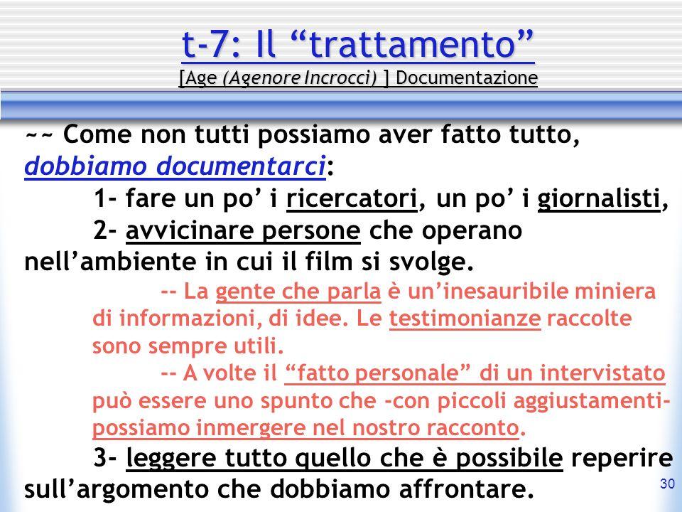 t-7: Il trattamento [Age (Agenore Incrocci) ] Documentazione